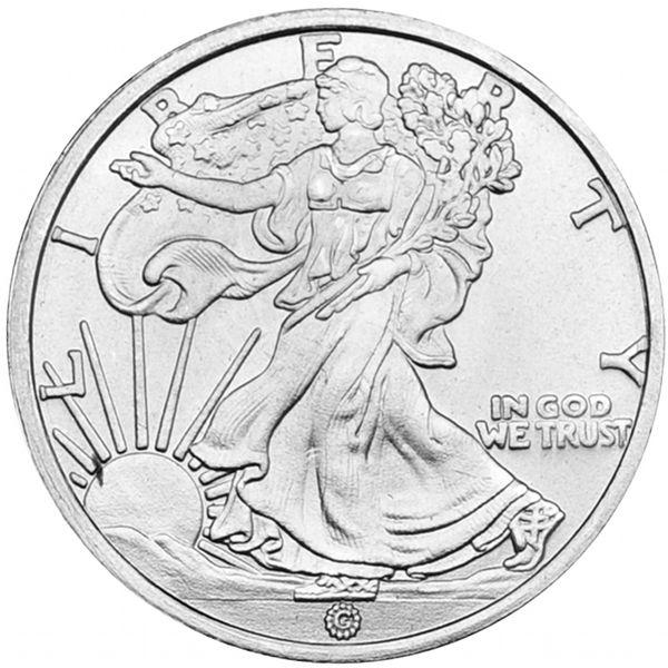 Silver 1//10 oz Walking Liberty Round